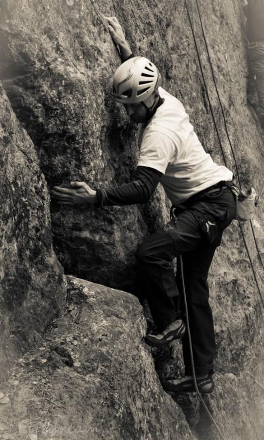 Kiipeilijöitä