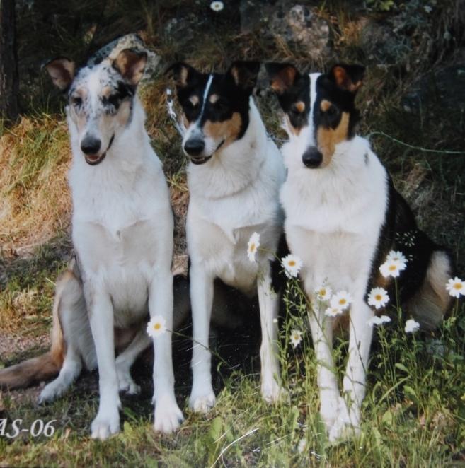 Mette tyttäriensä Rosien ja Röllin kanssa 2006