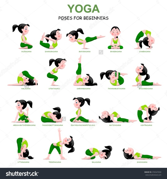 stock-vector-cartoon-girl-in-yoga-poses-with-titles-for-beginners-isolated-on-white-background-yoga-poses-376547650